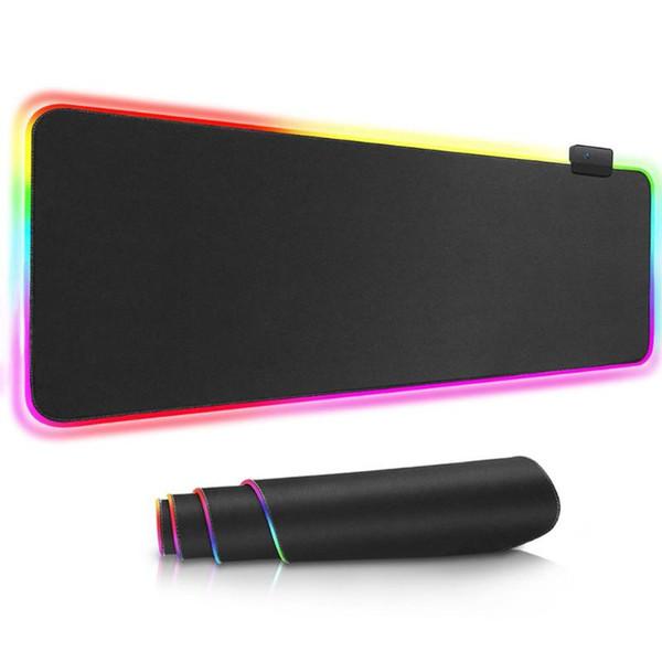 Rgb gaming mouse pad usb rgb brilhante oversized mouse pad colorido iluminação gaming mat teclado para pc portátil desktop