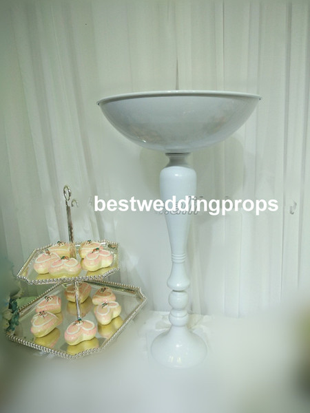 New style different size white mental cylinder flower display stand for wedding best01067