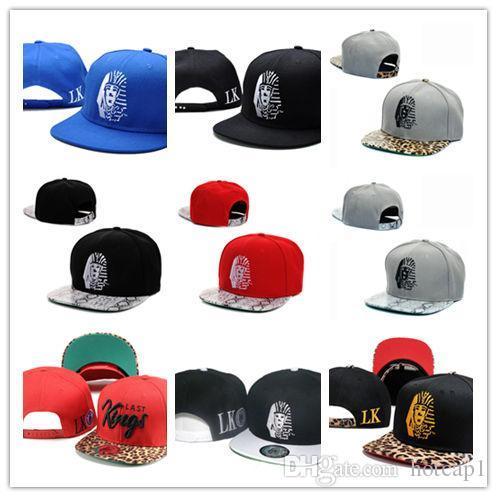 Buena calidad Top venta de cuero Snapback sombreros blanco lastking LK  diseñador de la marca para 05b69245a05