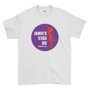 Personalised Bachelor T Shirt Top Stag Party Stag Do Breaking Hot Party On