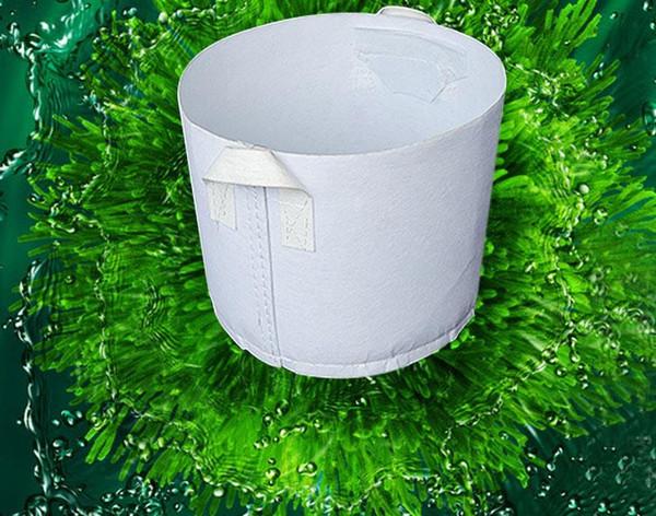 Нетканое растениеводство для выращивания деревьев Белая круглая посадочная сумка с ручками для пересадки рассады