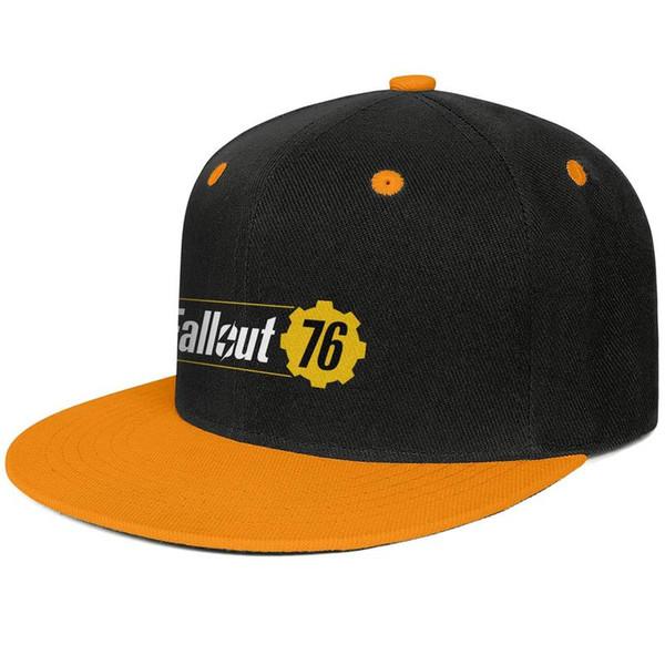 Womens Mens Plain Adjustable Fallout 76 Video Game Logo Punk Hip-Hop Cotton Baseball Cap Bucket Sun Hats Cadet Army Caps Airy Mesh Hats For