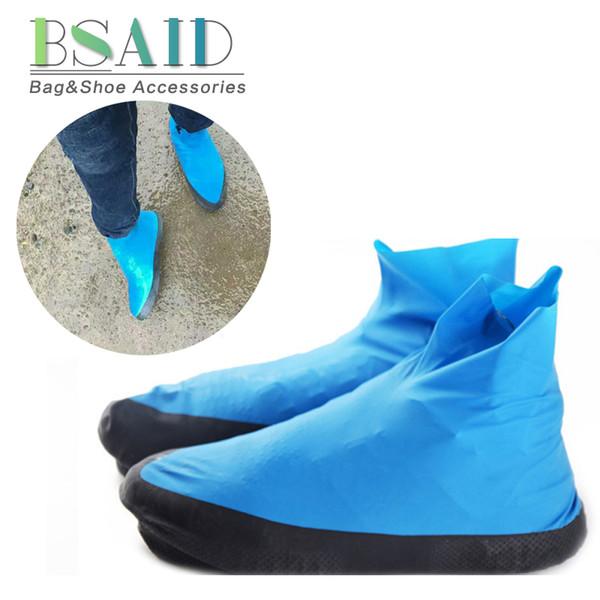 BSAID 1 Par Unisex Sapatos Cobre Das Mulheres Dos Homens Botas de Motociclista New Anti Slip Botas de Chuva À Prova D 'Água de Látex Repetível Overgrades Cobrir