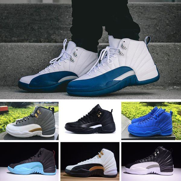 FOR01 High Quality 12 12s mens basketball shoes sneakers OVO White Gym Red Dark Grey women Basketball Shoes Taxi Blue Suede Flu Game CNY