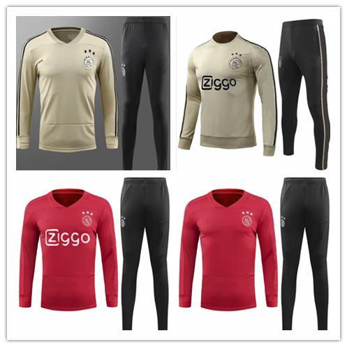 neuer Trainingsanzug für Ajax 2018/19 18/19 Ajax-Trainingsanzug VAN DE BEEK DOLBERG Kluivert Fußballuniform Größe S-3XL