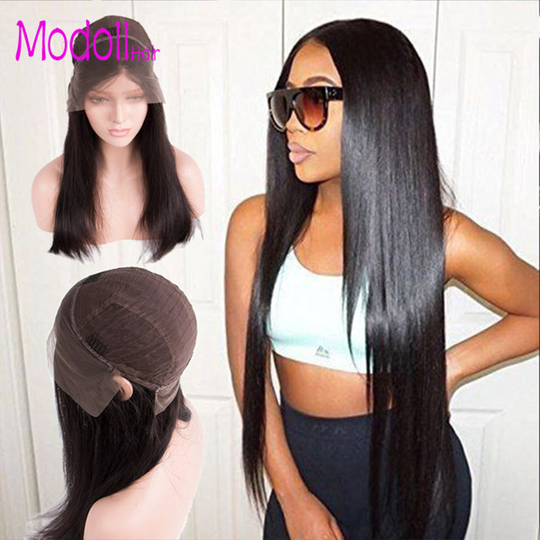 human hair lace front wigs Modoll 613 Blonde Lace Front Human Hair Wigs For Women Bleached Knots dhgate Remy Straight Brazilian Hair Wig