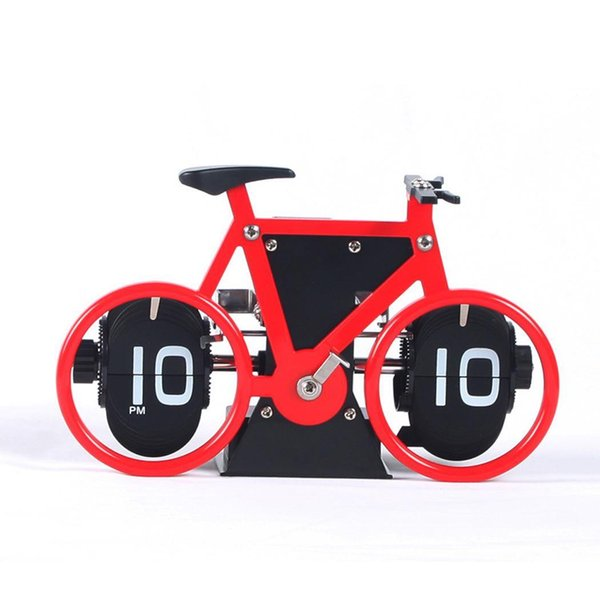 Automatic Creative Bicycle Page Turning Desktop Home, Office Silent Clock Time, Gifts, Decoration