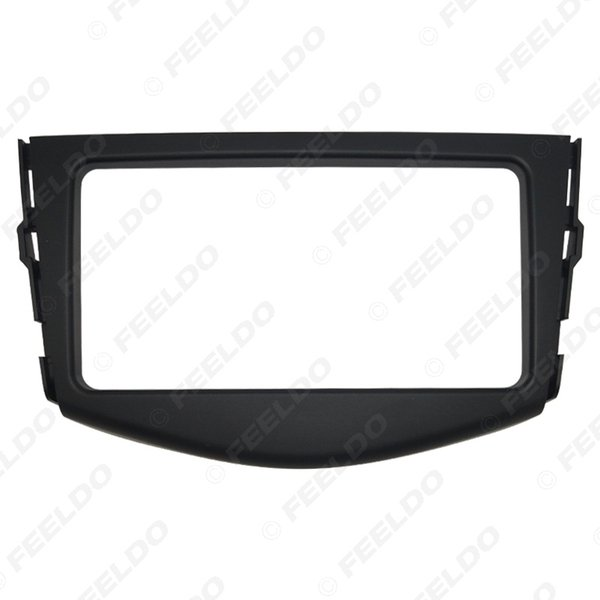 Car Stereo CD DVD Radio Fascia Panel Frame Trim Dash Placa frontal Kit de montaje de instalación para Toyota RAV4 (2006-2012) OEM 2DIN Tamaño # 4871