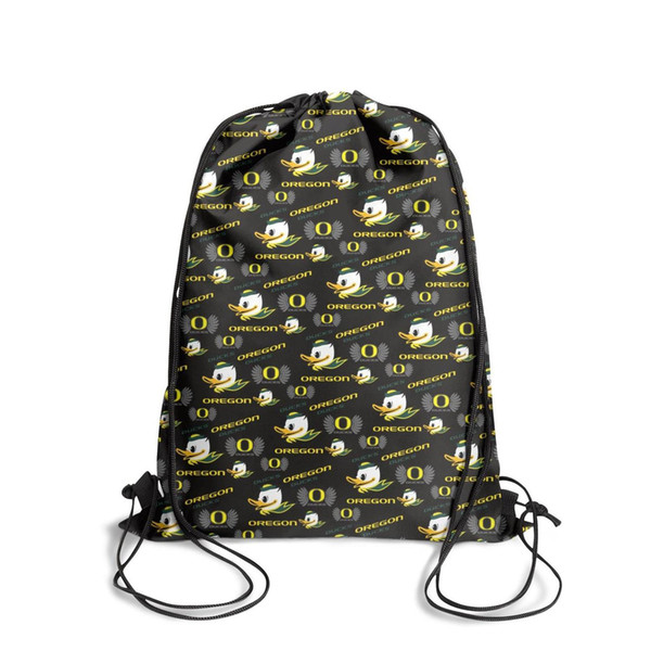 Sports backpack Oregon Ducks basketball Green fashion vintage personalizedpackage durable sports Bundle pullstring sack pouch pull string Bu