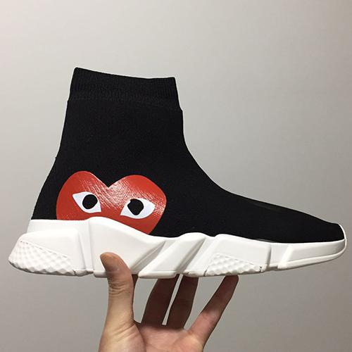Großhandel Balenciaga Sock Shoes Luxury Brand Freizeitschuhe Hohe Qualität Sneakers Geschwindigkeit Trainer Socken Race Läufer Schwarz Schuhe Männer