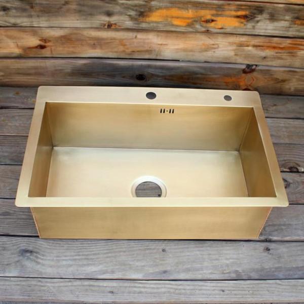 top popular brass kitchen sink smooth surface brass kitchen sink undermount kitchen sink 2021