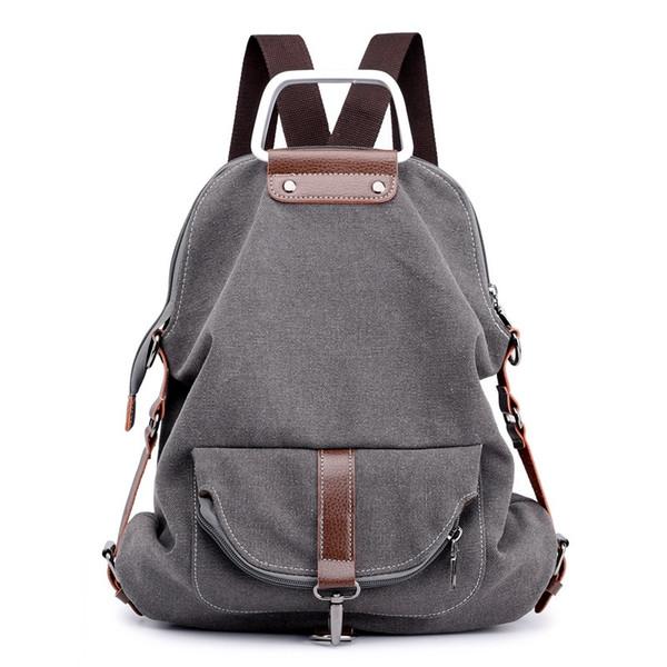 KVKY новый Винтаж женщины рюкзак многофункциональный холст рюкзак для девочек-подростков школьная сумка большой емкости женский путешествия Mochila #205738