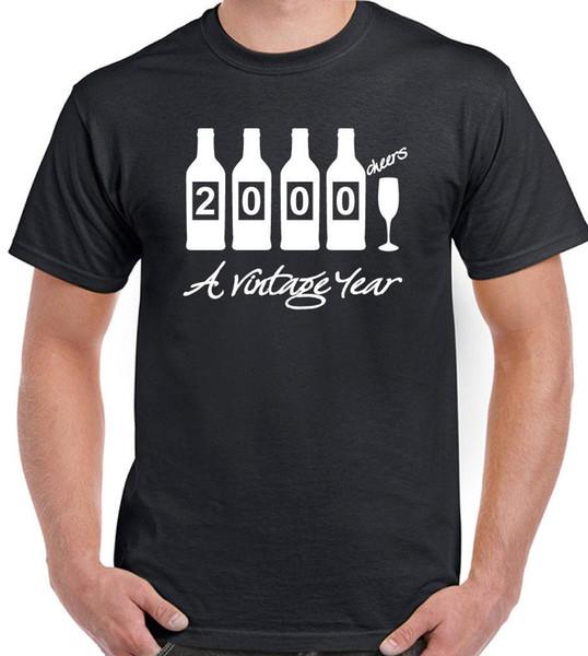 Бутылки 2000 - мужские смешной \ Новый 18-й день рождения футболка - подарок присутствует идея