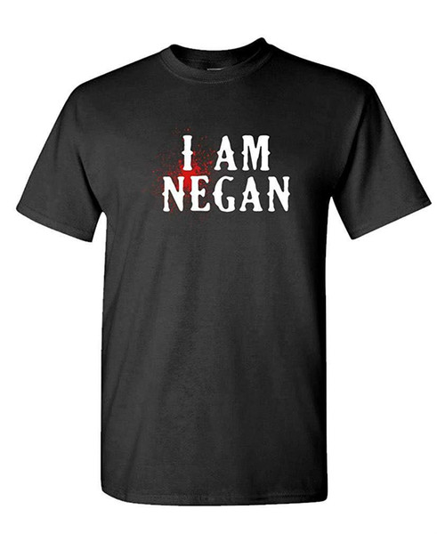 I Am Negan - Dead Zombie Day Night Monster - Mens Cotton T-Shirt