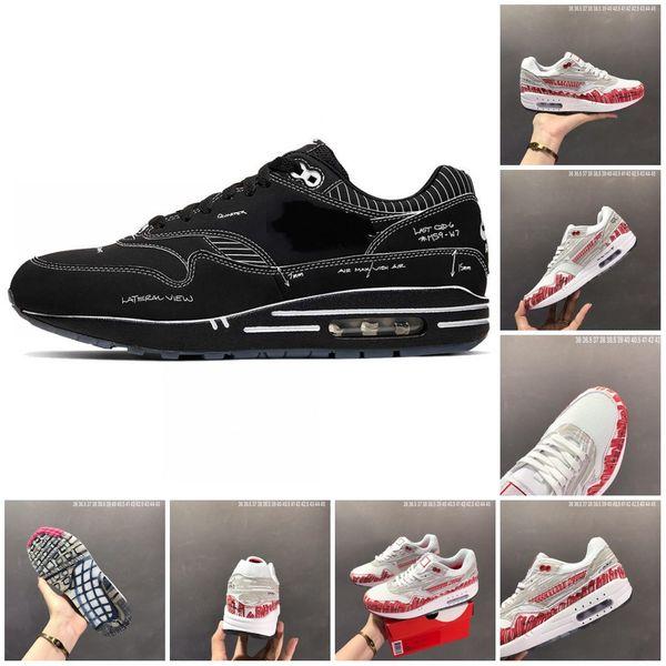 Nuovo Tinker schizzo per Shelf 1 87 Red Mens bianco scarpe da corsa per uomini 1s 87s progettista delle donne delle scarpe da tennis Aria Formatori Size 11