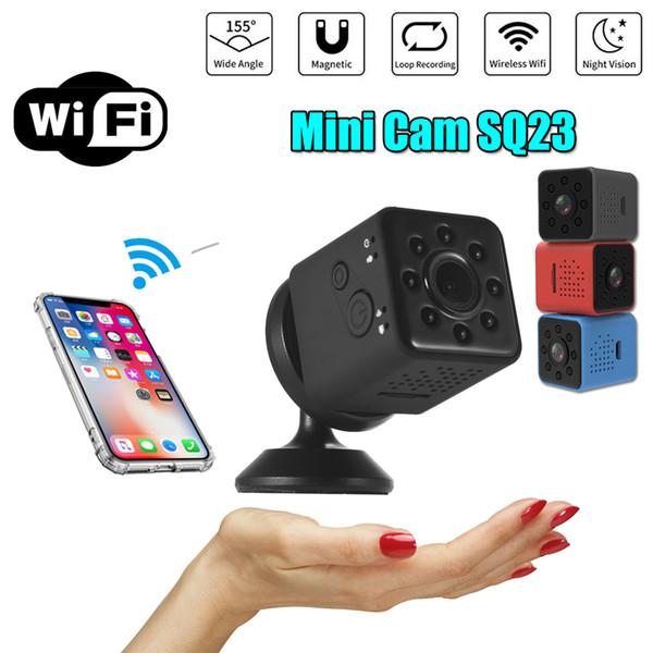 SQ23 Mini Camera Wifi 1080P HD Video Sensor Visione notturna Micro videocamera impermeabile DVR Motion SQ13 Mini Cam Versione di aggiornamento PK SQ12 SQ11