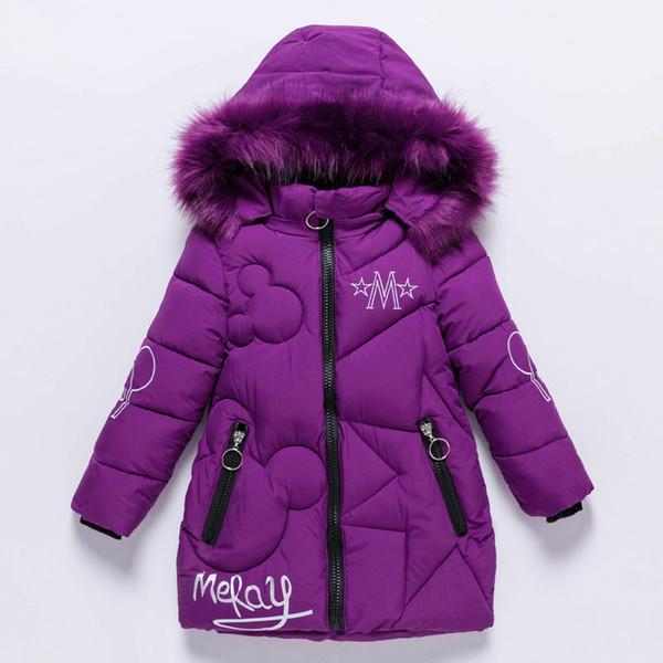 Ragazze Piumini bambino esterni vestiti caldi spessi bambini cappotti antivento Giacche invernali Bambini di inverno del fumetto OuterwearMX190916