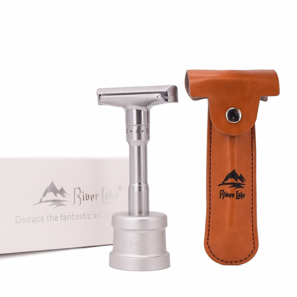 Adjustable Safety Razor Mens Shaving Double Edge Classic Safety Razor Blade Exposure Six Levels 1 Handle & 10 Blades J190718