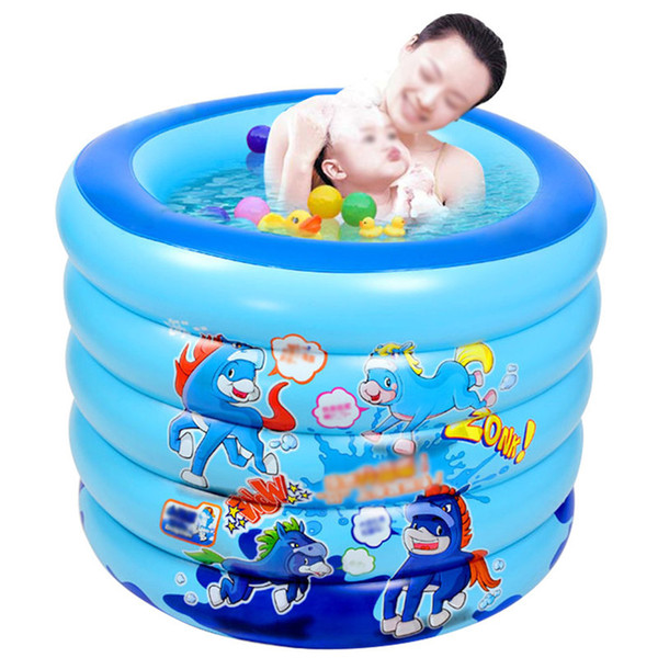 Baby Inflatable Swimming Pool Children Basin Bathtub Portable Paddling Pool Kids Outdoor Home Use Play Inflatable