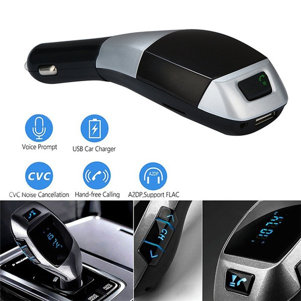 X5 Multifunction FM Transmitter Wireless Radio Adapter TF Card Bluetooth Car Kit HandsFree Mp3 Player USB Car Charger For iPhone Andriod