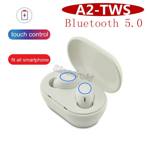 A2 Mini Invisible Bluetooth 5.0 Headset Earphone Magnet USB Charger Noise Canceling Earphones With Microphone Earphone Headphones 10pcs DHL
