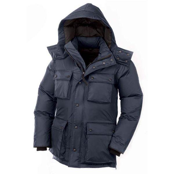 Acheter Réel De Fourrure De Raton Laveur Hommes Veste D'hiver Designer North Goose Down Jacket Épaissir Manteau Chaud Puffer Vestes Jaqueta Trenchs