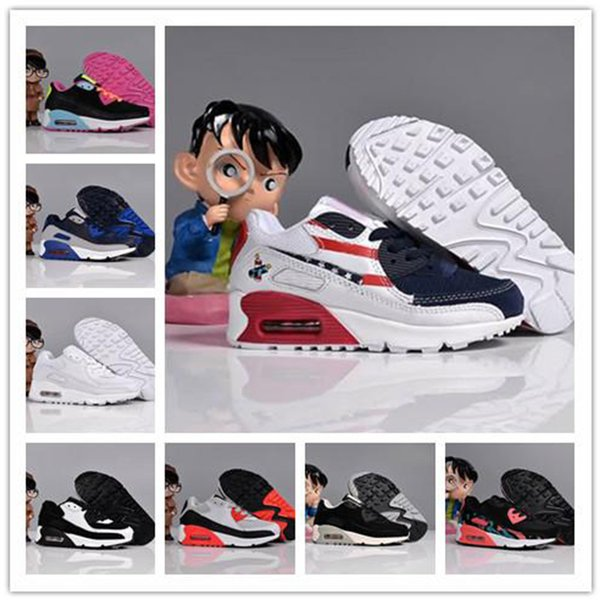 2018 Fashion Runners Kids Running Shoes Designer Boy Girl Toddler Youth Trainers Designer bambini anni '90 Sneakers