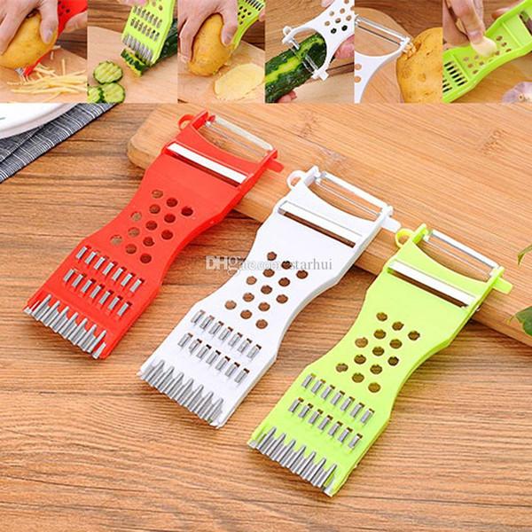 top popular Plastic Vegetable Shredder Multifunction Manual Slicers Cucumber Cutter Vegetable Fruit Peel Shredder Slicer Kitchen Tools WX9-1814 2020