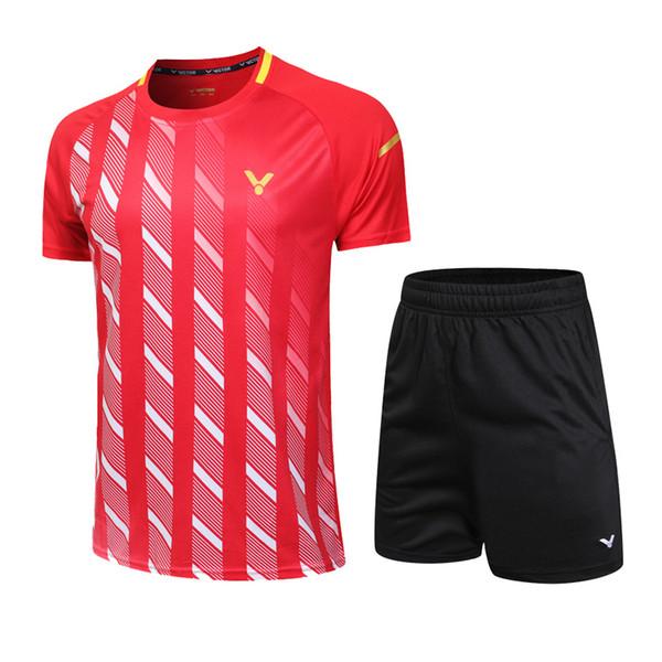 best selling New 2019 Victor badminton shirt SPORT shorts Men Women's Table Tennis T-shirt,Tennis Shirt JERSEYS Quick Drying,Badminton sportwear Clothes
