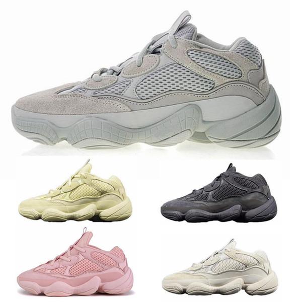 2019 New Designer 500 Salt Hombres Mujeres Zapatos para correr Super Moon Yellow Blush Desert Rat 500 Kanye West Sports Jogging Sneakers Shoe
