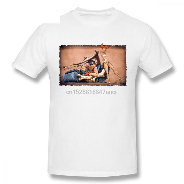 Round Collare The Flintstones Go Lowbrow Uu3mor42rlf Nuova maglietta casual per Maschio T-shirt casual