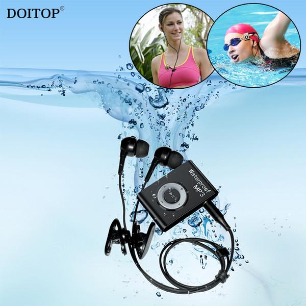 DOITOP 8 ГБ Мини Водонепроницаемый Плавательный MP3-плеер Спорт Бег Верховая езда MP3 Walkman Hifi Sereo Музыкальный плеер с FM-радио Клип