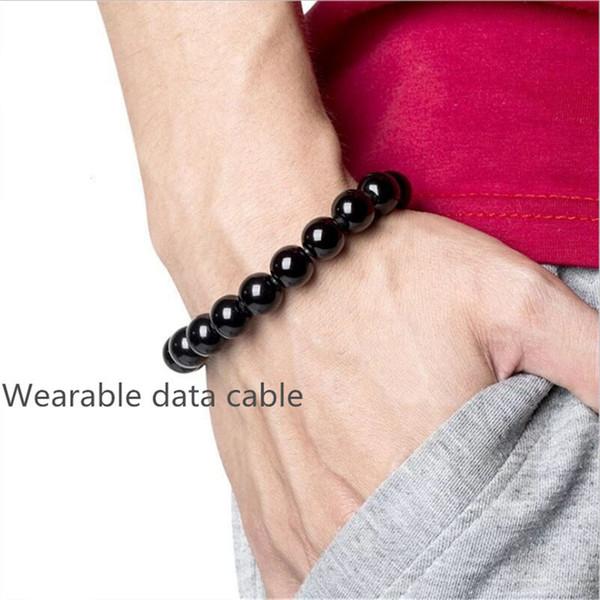Micro USB Handys Datenleitungen Armband Handgelenk Ladeleitungen für Samsung Galaxy S10 S9 Wearable Jewelry für Android i phone x max