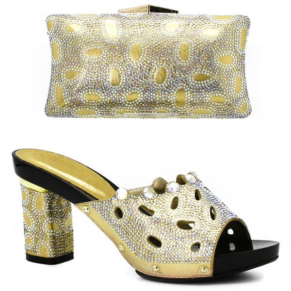 Scarpe africane e borsa Set per le donne Sandali con tacco Partito Wedding Office Carriera Abito abbinabile scarpe tacco alto rosa africano e Set Borsa