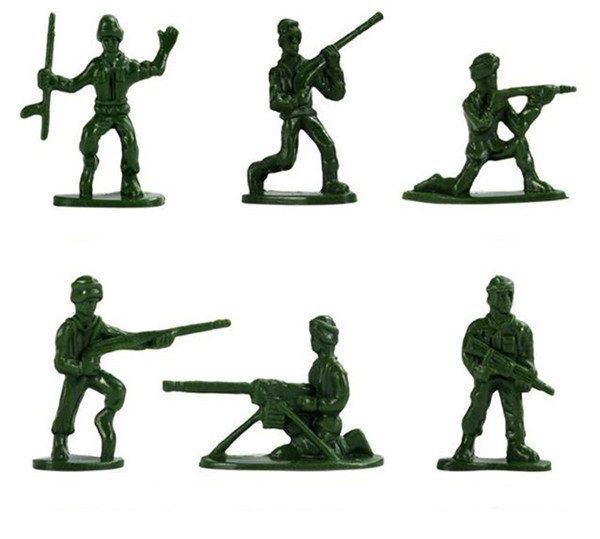 300 pcs/set Military Plastic Soldier Model Toys Army Men Figures Playset Toys Decor Gift For Children Kids Soldier Model Toys Action Figurin