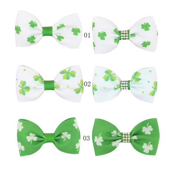 Hair Clip Bow Headband Barrette Baby Hairpin 7cm Clover One Word Clip Hairpin Duck Mouth Clip Jewelry Wholesale