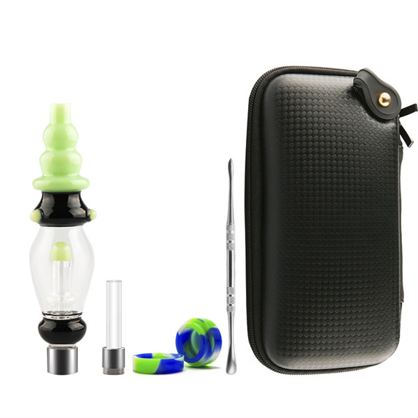 DHL Free Honeybird Deluxe Kit Honey Straw with 510 Thread Titanium Quartz Nail Concentrate Oil Rigs Glass Water Pipe Dab Rig Glass Bongs