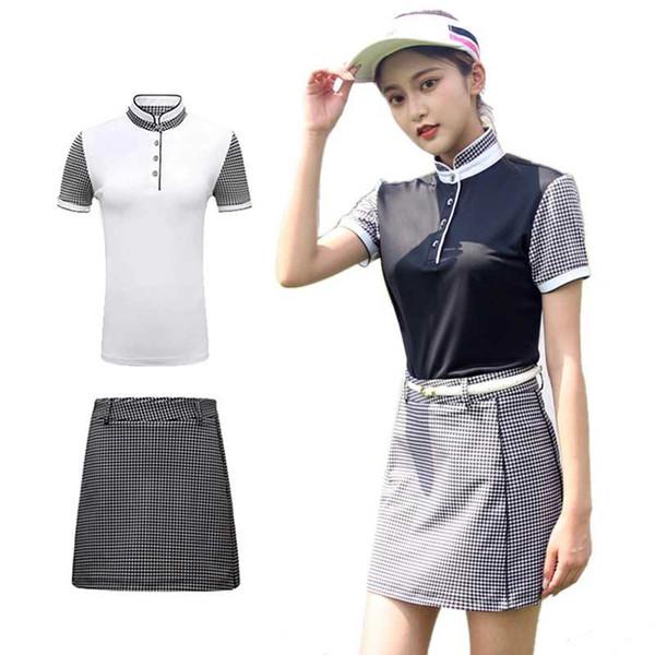 2019 PGM Golf T-Shirt Gonna Tute Abbigliamento Donna Golf Estate Manica corta Golf Tennis Abbigliamento sportivo Tuta