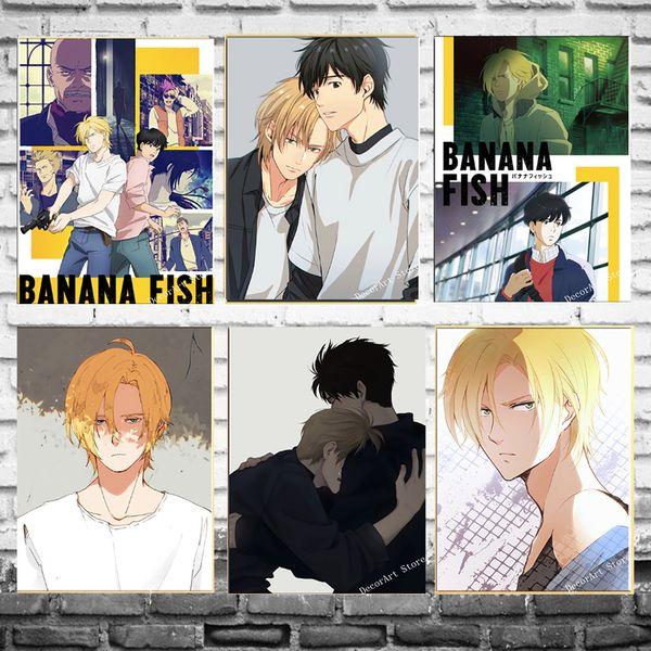 Satin Al Japonya Anime Muz Balik Oyunu Karikatur Tuval Boyama