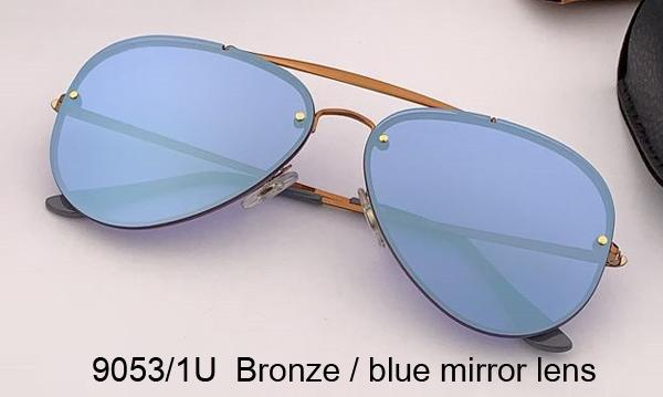 9053 / 1U عدسة مرآة برونزية / زرقاء