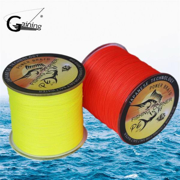 pe Gaining 8 Strands Braided Fishing 500m Multi Color Super Strong Japan Multifilament PE braid line 10LB -200LB