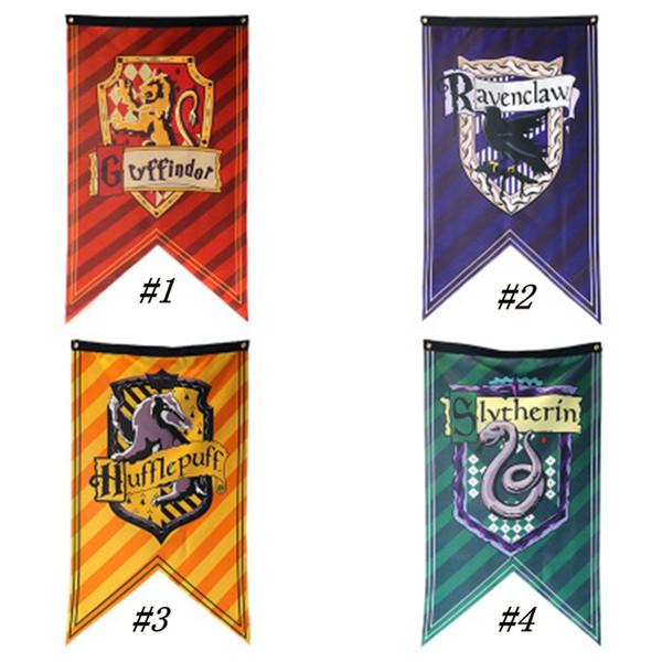 Banderas del Partido Colegio Hogwarts de Harry Potter indicador de la bandera Banderas de Gryffindor Slytherin Hufflepuff Ravenclaw Bar decoración de la pared ZZA1593