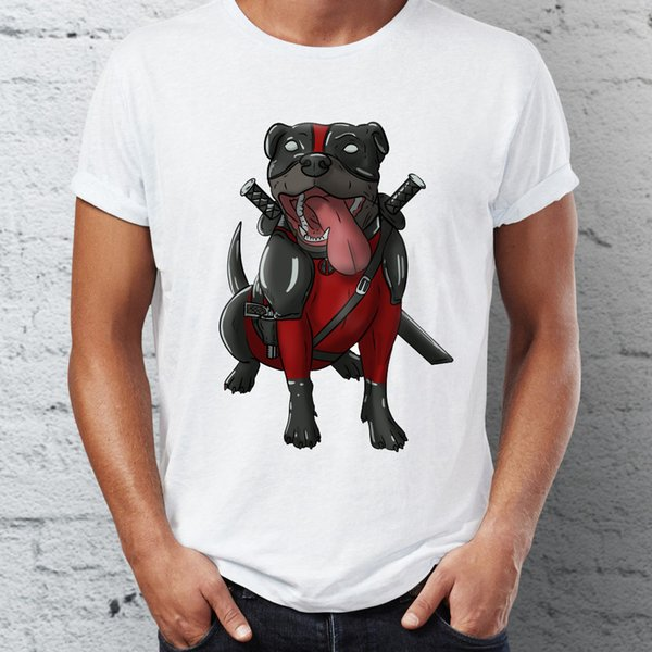 Мужская футболка с изображением собачьего кроссовера с корги ротвейлером и классическим футболкой Pit Bull Хип-хоп Тис Топы Harajuku