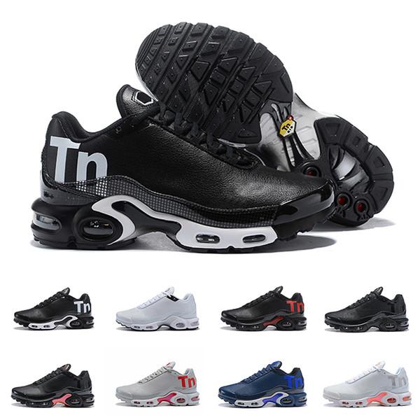 2019 Meilleur Mercuial TN Plus 2.0 Moc Hommes Chaussures de course Formateurs Lerther Sport Jogging Surface Designer Marcher Randonnée Sneakers Taille 40-46