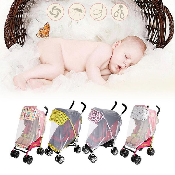 New Baby Toddler Stroller Crip Netting Curtain Full Cover Trolley Mosquito Net Cover Universal Umbrella Special Breathable Net