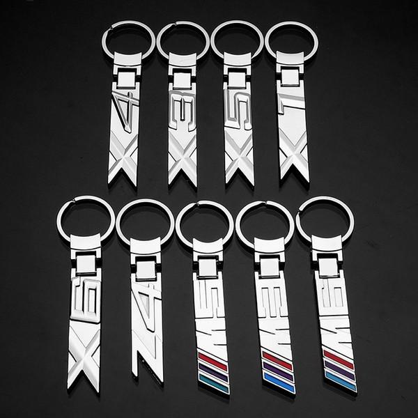 2 Pieces 3D Metal Car Logo Keychain Keyring Key Chain Auto Key Ring Holder For BMW X1 X3 X4 X5 X6 Z4 M3 M5 M6 Keyfob