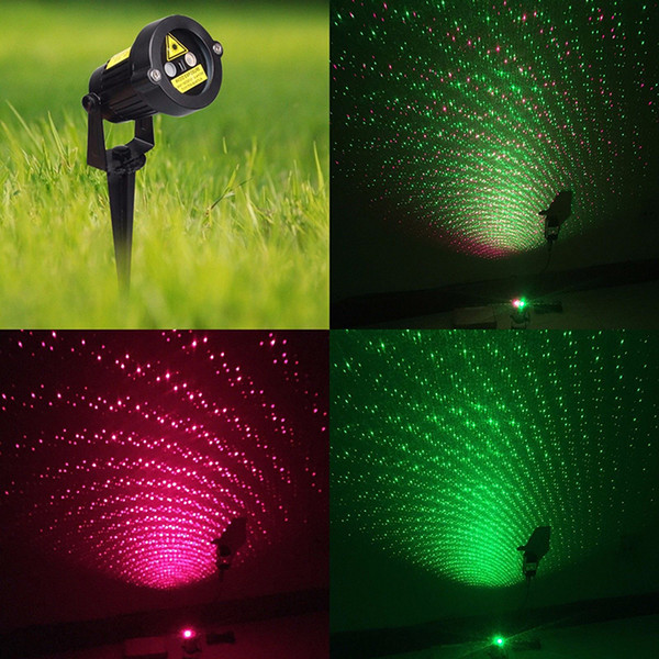 Christmas Laser Light party Star Projector Outdoor Garden Decoration Waterproof IP65 Red Green Blue Showers Lawn Static For Xmas