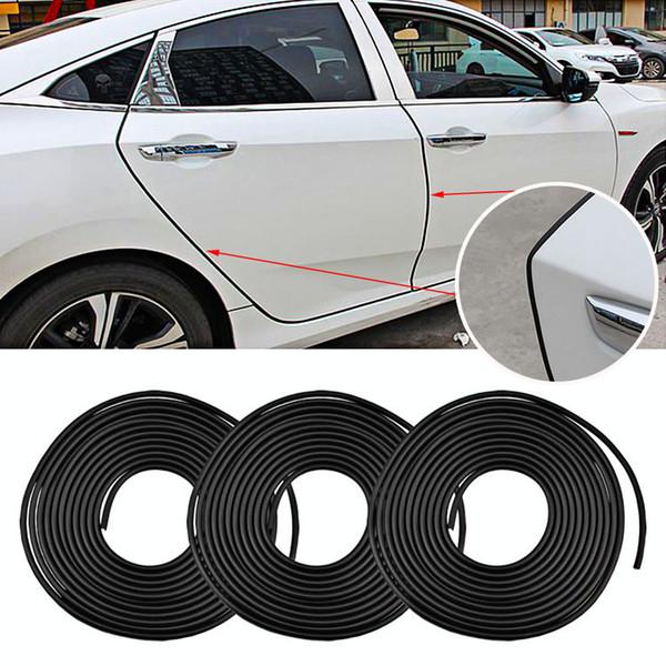 8 M Protetor de Risco Da Porta Do Carro Universal Tiras de Borracha Borda Portas Molduras Lado Adesivo Protetor Veículo Arranhões Para Carros