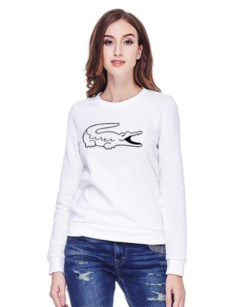 2019 новый Высококачественный Рубашка женщин с длинным рукавом Поло Толстовка женщин Письмо печати тройник Шею повседневная женская рубашка Толстовка