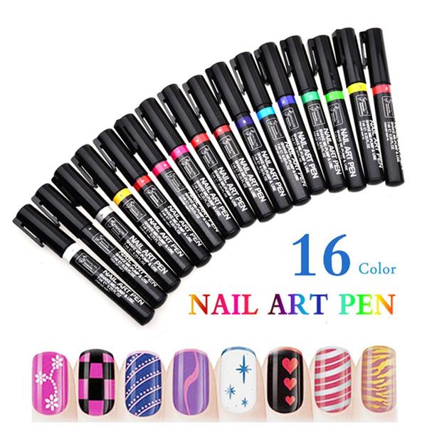 1шт ногтей Pen для 3D Nail Art DIY украшения Art Pen UV Gel Drawing Tool красоты смальта unghie Вернись nagellak